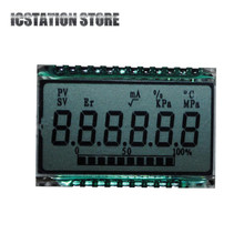 GD46532 TN Positive 6 Digit 7 Segment LCD Display Panel Temperature Pressure Symbol Module 34.0*17.6mm (Without LED Backlight)