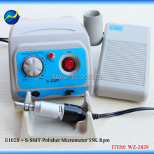 220V/110V Micromotor Pedal Control Portable E-type Connector E102S Handpiece 35000 Rpm(China)