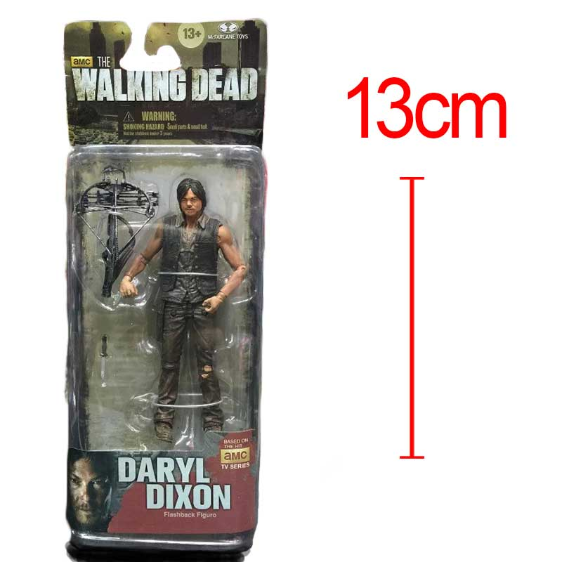 AMC TV Series The Walking Dead Daryl Dixon With Weapon Action Figure 15CM PVC Collectible Model Toys Brinquedos<br><br>Aliexpress