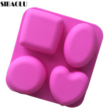 Basic Square Heart Oval Round Soap Silicone Mold Candle Making for Homemade Cake Decorating Tools Kitchen Accessories(China)