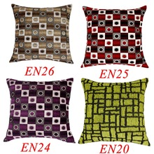EN20 EN24 EN25 EN26 Silver White Purple Red Brown Green Linen Blending Cotton Cushion Cover Pillow Case Throw Sofa Home Decor