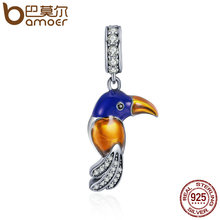 Buy BAMOER Authentic 925 Sterling Silver Lovely Parrot Pendant Charm fit Women Charm Bracelets & Necklace Fine Jewelry SCC391 for $9.70 in AliExpress store