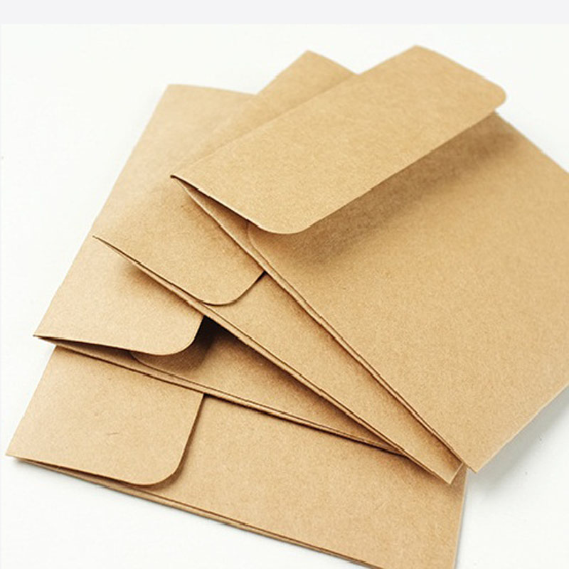 Set of 5 Vintage Brown Tags in Bags Gift Tags//Labels Scrapbooking Crafts 10x7cm
