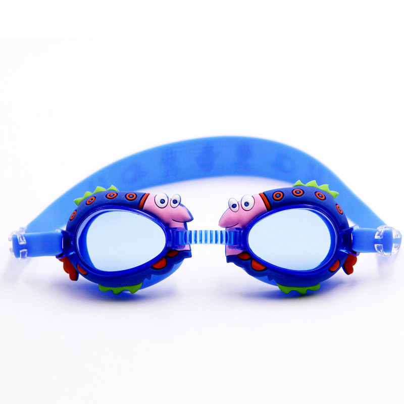 LumiParty Kid's Cute Cartoon Swimming Goggles Waterproof Anti Fog Ultraviolet-proof Silica Gel Swimming Goggles(China (Mainland))
