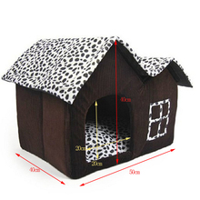 Plus Size Dog House Folding Bed Dog House For Large With Mat PP Cotton Cats House Idepet Brand Pets Product Cama de Perro GW0107