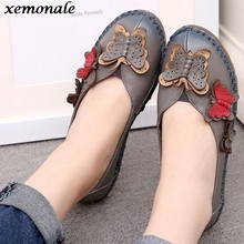 National Wind Butterfly Decoration Shoes Handmade  Vintage Mom Shoes Four Seasons Shoes Free Shpping