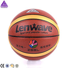 7 # tennis basketball with high quality and free gift bag + pin lenwave basketball PU leather set resistant to fight 635g weight