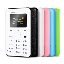 AIEK Q2 0.96 inch Mini Cell Mobile Card Phone 4.8mm Ultra Thin Multi-Language Pocket Low Radiation for Children students Gift