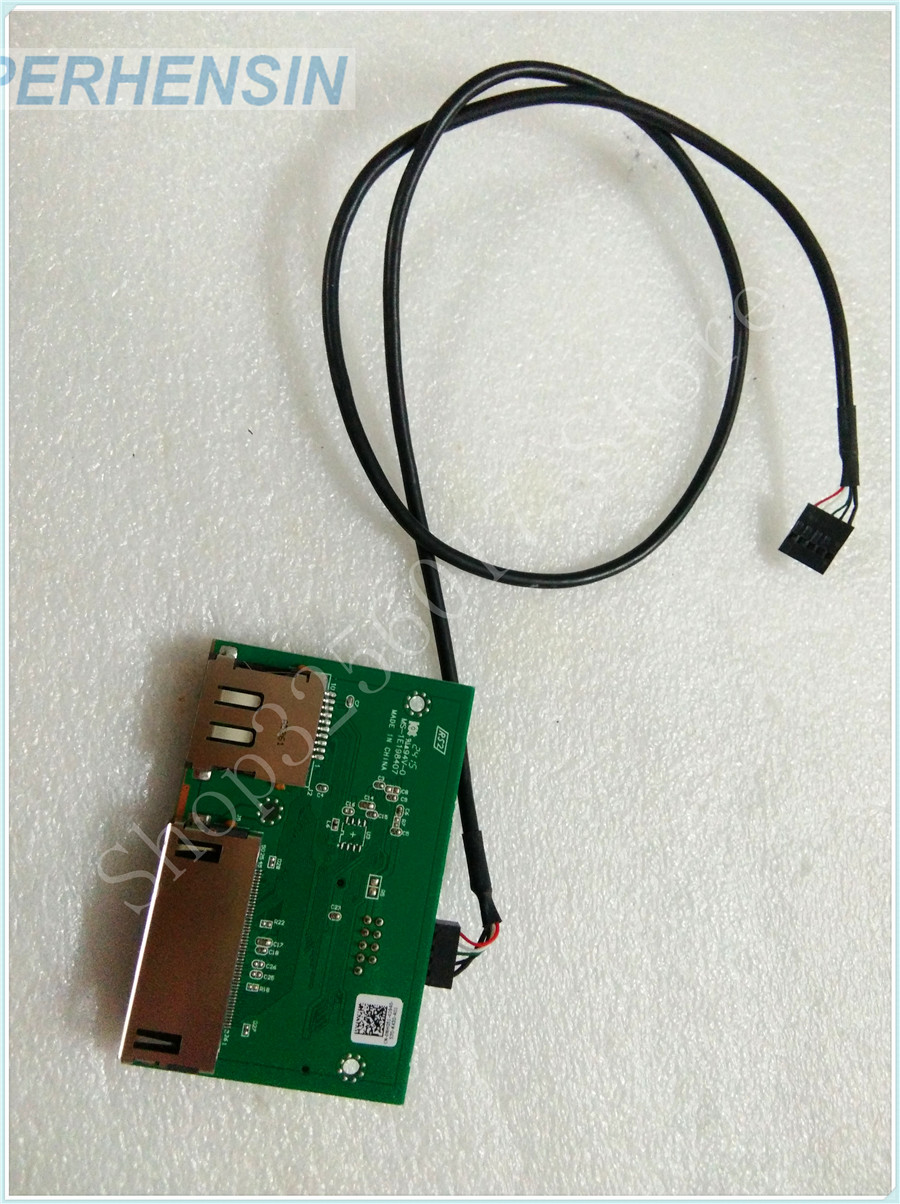FOR DELL FOR XPS 8700 Front Card reader Panel connector board NHG51 with cable<br>