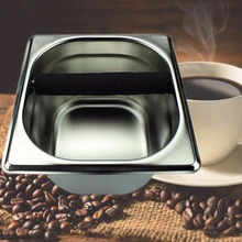 1pcs Stainless Steel Tool Accessory Coffee Knock Box Container for Coffee Maker Machine
