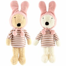 JESONN Dressed Stuffed Animals Easter Bunny Soft Plush Toys Rabbits for Children's Gifts(China)