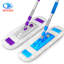 KOYIDA Microfiber Dust Mop 360 Degrees Spin Rotating Mop Stainless Steel Telescopic Bar Mop Household Floor Cleaning Accessories(China)