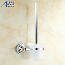 Chrome stainless steel Toilet Brush Holders Bathroom Accessories hardwares toilet vanity 7008CP(China)