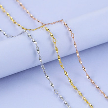 0.7mm Solid Sterling Sliver Chain Necklace White Gold Yellow Gold Rose Gold Color Forever Pure Silver Chain(China)