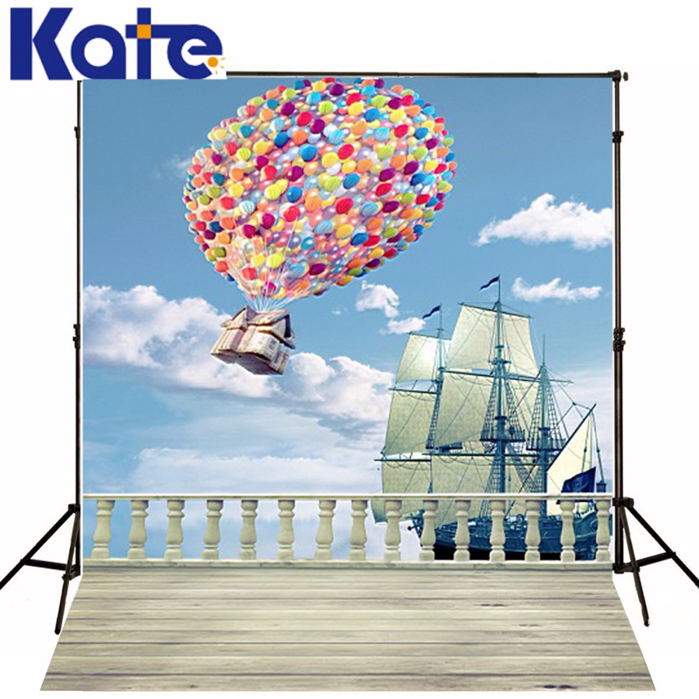 New Arrival Background Fundo Flying Balloons Sailing 6.5 Feet Length With 5 Feet Width Backgrounds Lk 2635<br>