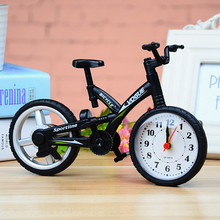 Newest Fashion Bike Shape Clocks for Children Kids Bicycle Alarm Clock Home Art Decoration Childer Present(China)