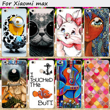 Mobile Phone Bag and Cover For Xiaomi MAX Mi Max 6.4 inch Cases Hard Plastic Lovely Cat/Fish/Ghost baby Protective Skin Housing