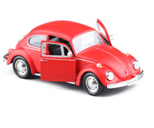 RMZ City Diecast 1/32 Volkswagen Beetle 1967 Classic Car Pull Bakc Collection Hobbies Model Toy Kids Gift