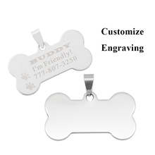 FUNIQUE 10PCs Stainless Steel Bone Stamping Blanks Charm Pendants For Necklaces Jewelry Making Dog Tag Pendant Silver Tone(China)