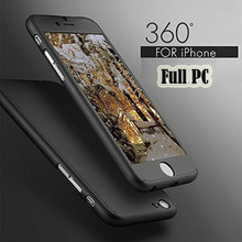 Buy 360 Degree Full Cover Case iPhone 6 Cases 6s 7 Plus 5S 5 Tempered Glass iPhone 7 Case 6 Plus Phone Case Capa Coque for $1.83 in AliExpress store