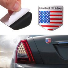 3D Aluminum Peltate Flag Of United States Car stickers For Cadillac Buick Chevrolet Ford Lincoln Chrysler Jeep Dodge Focus Cruze