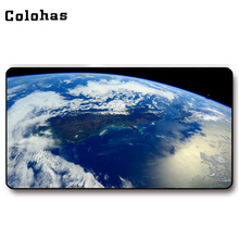 Colohas 2017 Beautiful Earth Pattern Rubber + Cloth Gamer Mouse Mat Big Size Unique Gaming Mouse Pad for Keyboard PC Computer