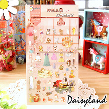 1 Sheet Honey House Cartoon Daisyland Scrapbook PET Paper Kawaii Stickers Diary Decal Post It Phone Sticker Flakes 1101(China)