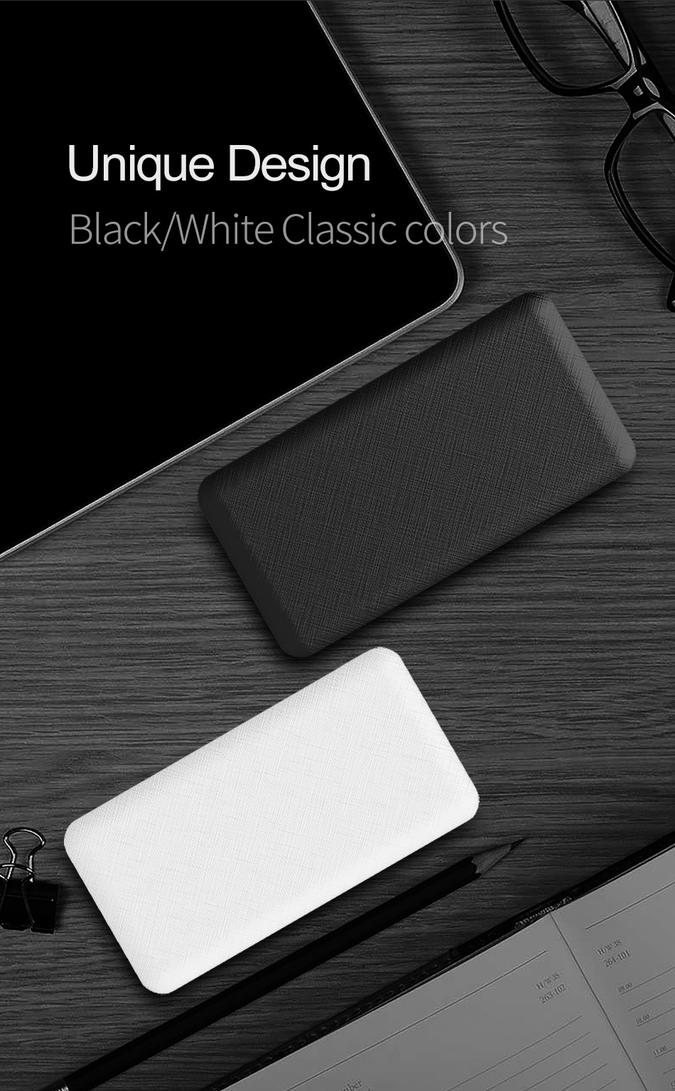 ROCK Slim 10000 mAh Power Bank,Portable Ultra-thin Polymer Powerbank battery power-bank 10000mah With LED Light for Mobile Phone 13