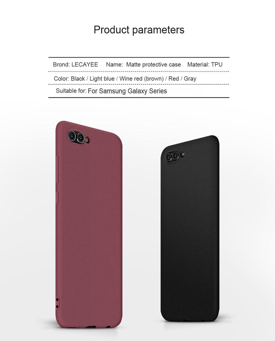 TPU Matte Fitted Case for Samsung Galaxy A3 A5 A7 J3 J5 J7 2016 2017 J3Pro J2 J5 J7 Prime Safety High Quality Soft Case Cover (8)