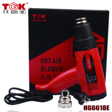 Hot Sale Powerful 1800W heat gun LCD  thermostat digital display CE CCC ROHS High Quality hot air gun+1 spare nozzle