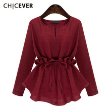 Buy CHICEVER Ruffle Lace Top Female Long Sleeve Women's Shirt Casual Oversized Tops Clothes Korean Fashion Plus Size Autumn 2017 for $13.80 in AliExpress store
