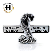 Fit For Ford Mustang Shelby GT500 GT-500 Super Snake Cobra Wall Plaque Emblem Badge Sticker Silver Auto Car