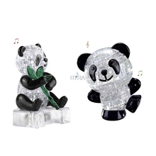 3D Clear Puzzle Jigsaw Assembly Model Diy Panda Intellectual Toy Gift Hobby Kit-TwFi