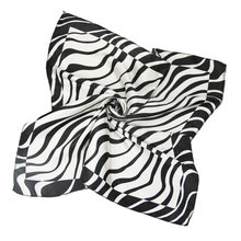 Silk scarf headband small facecloth square in 50cm black zebra scarf bandanas handkerchief neckerchief muffler b296