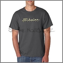 Schwinn Old School logo Charcoal short sleeve tshirt