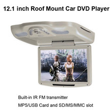 12.1 Inch Roof Mount Car DVD Player with built-in IR FM transmitter and MP5/USB Card and SD/MS /MMC Slot(China)