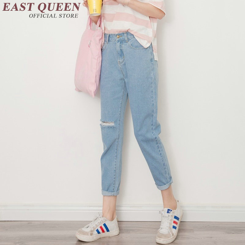 Ripped jeans for women denim harem pants female boyfriend jeans for women high waist jeans female woman pants  AA2680 YÎäåæäà è àêñåññóàðû<br><br>