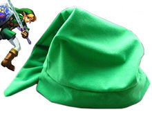 New Zelda Green THE LEGEND OF ZELDA Link Plush Hat Cap Anime Game Cosplay(China)