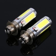 2PCS 6000K White H6M COB LED MotorBike/ATV Headlight Fog Light Bulb 12V 20W
