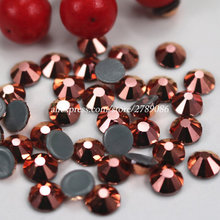 1440pcs/288pcs Rose Gold Hot Fix Rhinestone Flatback Iron On Hotfix Strass Shiny More Brigst SS3-SS34 DIY Nail Art/Bag(China)