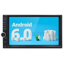Quad Core Android 6.0 Car Multimedia Player Car Player Radio auto stereo universal stereo USB SD BT DVR DVBT DTV DAB WIFI/3G Map