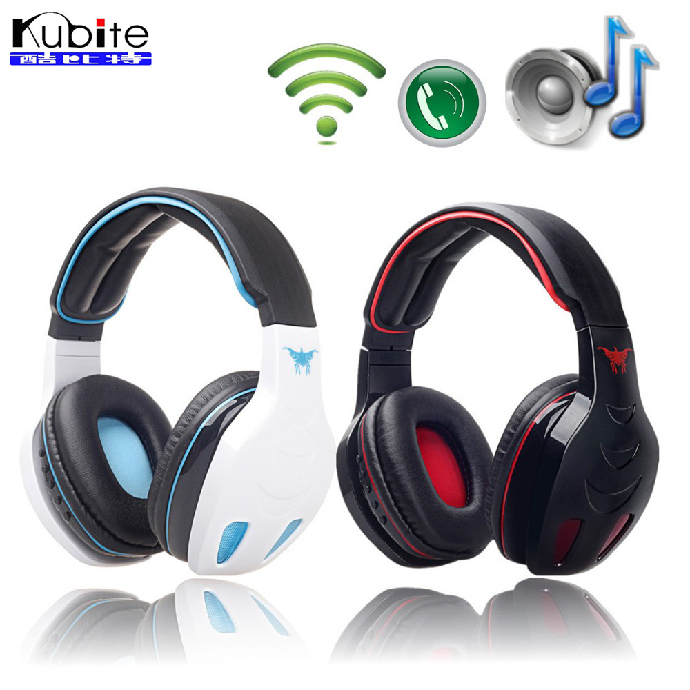 Kubite STN-08 Wireless Headphones Bluetooth Stereo Headset Bass With Mic FM MP3 EQ TF Slot For iPhone 7/7 Plus iPad PC<br><br>Aliexpress