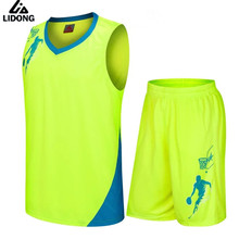 2017 New Kids Basketball Jersey Sets Uniforms kits Child Boys Girls Sports clothing Breathable Youth basketball jerseys shorts