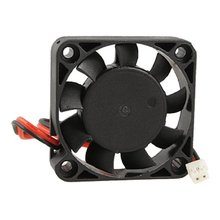CAA-Hot New Black Plastic 40mm x 40mm x 10mm 4010 9 Blade Brushless DC 12V Cooling Fan(China)