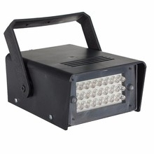 Mini 220V 3W 24 LED Operated DJ Strobe Lights Disco Party Club Stroboscope White stage light effects