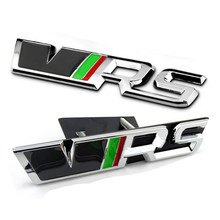 Car Styling 3D Sticker VRS Trunk Emblem Decal Grille Chrome RS Badge For SKODA Fabia Octavia Rapid Superb Yeti Citigo Roomster