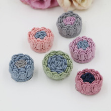 new style 20pcs/lot 24mm colorful rounds rose flowers buds shape handmade fasion florals diy jewelry garments/hair accessory