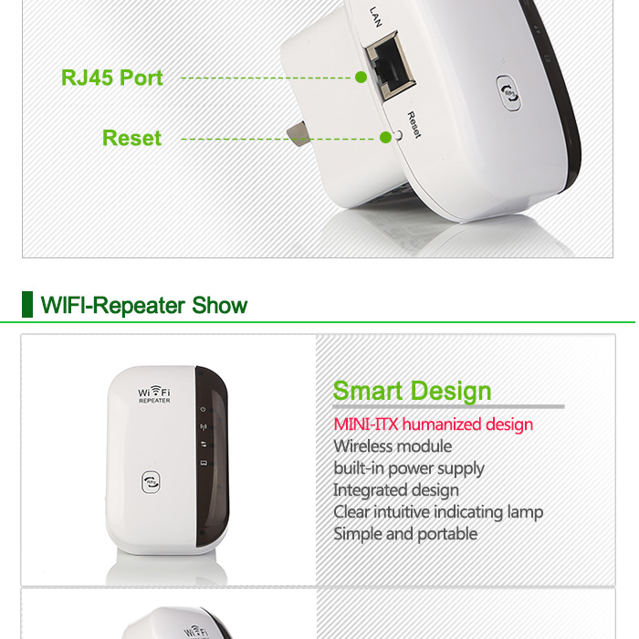 Wireless WiFi Repeater Signal Amplifier 802.11N/B/G Wi-fi Range Extander 300Mbps Signal Boosters Repetidor Wifi Wps Encryption 10