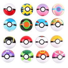 16styles/set 5cm Pokeball with Random Style Figures Inside Anime Action Figures Toys