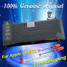"JIGU Free shipping A1322 Original Laptop Battery For APPLE MacBook Pro 13"" A1278 mb990 mb991 mc700 mc374 md212 md313 md101"